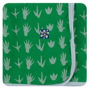 Kickee Pants Print Swaddling Blanket (Dino Tracks - One Size)