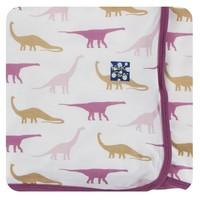 Kickee Pants Print Swaddling Blanket (Natural Sauropods - One Size)