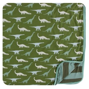 Kickee Pants Print Toddler Blanket (Moss Sauropods - One Size)