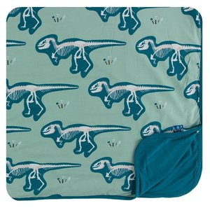 Kickee Pants Print Toddler Blanket (Shore T-Rex Dig - One Size)