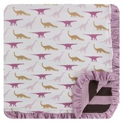 Kickee Pants Print Ruffle Toddler Blanket (Natural Sauropods - One Size)