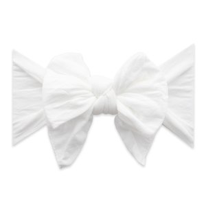 Baby Bling DANG ENORMOUS BOW: white dot