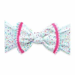 Baby Bling TRIMMED PRINTED KNOT: birthday 19