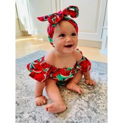 Lincoln&Lexi The Sweet Watermelon Romper & Headband Set
