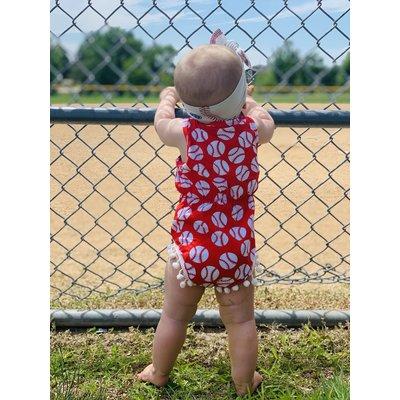 Lincoln&Lexi The Bailey Baseball Romper
