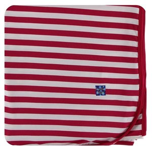 Kickee Pants Print Throw Blanket (Candy Cane Stripe 2019 - One Size)