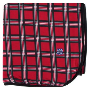 Kickee Pants Print Double Throw Blanket (Christmas Plaid 2019 - One Size)