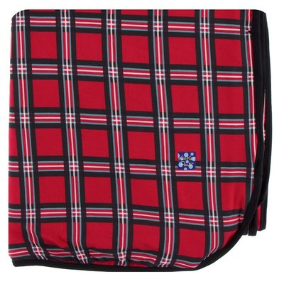 Kickee Pants Print Double Throw Blanket (Christmas Plaid 2019 - One Size)