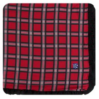 Kickee Pants Print Ruffle Toddler Blanket (Christmas Plaid 2019 - One Size)