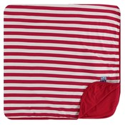 Kickee Pants Print Toddler Blanket (Candy Cane Stripe 2019 - One Size)