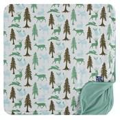 Kickee Pants Print Toddler Blanket (Natural Woodland Holiday - One Size)