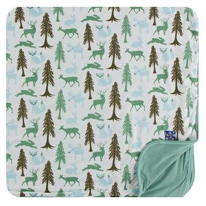Kickee Pants Print Toddler Blanket (Natural Woodland Holiday - One Size)