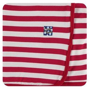 Kickee Pants Print Swaddling Blanket (Candy Cane Stripe 2019 - One Size)