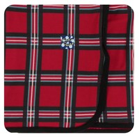 Kickee Pants Print Swaddling Blanket (Christmas Plaid 2019 - One Size)