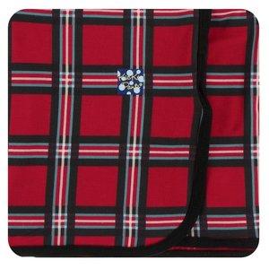 Kickee Pants Print Swaddling Blanket (Christmas Plaid 2019 - One Size)