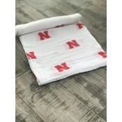 University Of Nebraska 100% Organic Swaddle Blanket