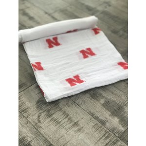 Three Little Anchors PRE-ORDER University Of Nebraska 100% Organic Swaddle Blanket
