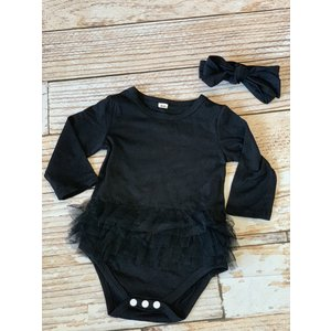 Lincoln&Lexi My Little Black Dress & Headband Set