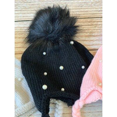 Pearl Crochet Puff Hat