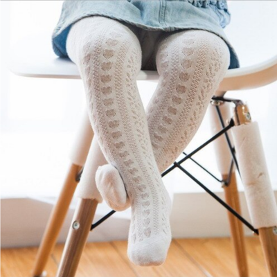 Lincoln&Lexi Heart Knit Tights