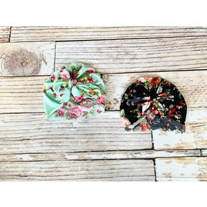 Lincoln&Lexi The Lily Floral Turban Bow Hat