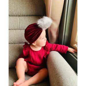 Lincoln&Lexi The Val Velvet Puff Turban Hat