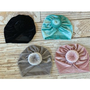 Lincoln&Lexi The Velvet Turban Bun Hats