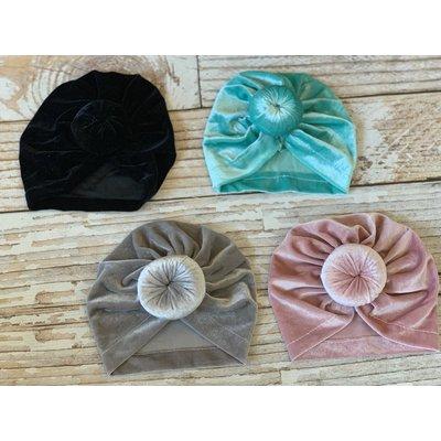 Lincoln&Lexi The Velvet Turban Bun Hats