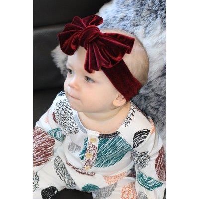 The Velvet Big Bow Headband