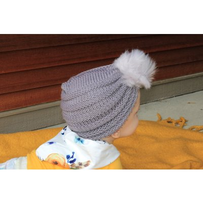 Lincoln&Lexi Crochet Puff Beanie