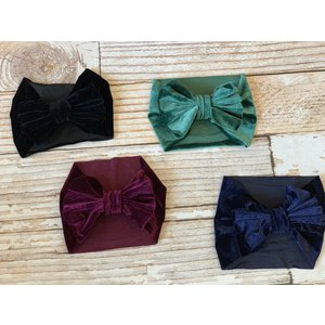 Lincoln&Lexi The Velvet Big Bow Wide Headband