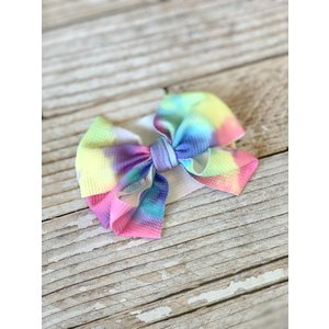 Lincoln&Lexi Tie Dye Party Big Bow Headband