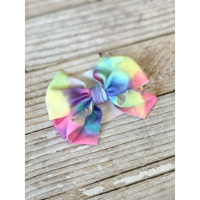 Lincoln&Lexi Tie Dye Party Big Bow Headband