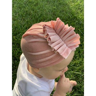 Lincoln&Lexi The Velvet Turban Ruffle Hat