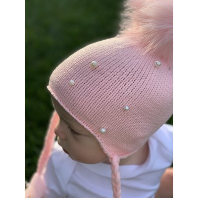 Lincoln&Lexi Pearl Crochet Puff Hat