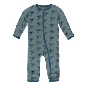Kickee Pants Print Coverall with Zipper (Dusty Sky Happy Tornado)