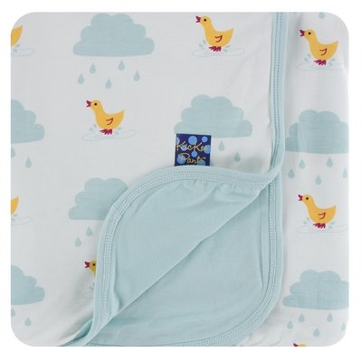 Kickee Pants Print Stroller Blanket (Natural Puddle Duck - One Size)