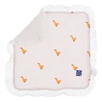 Kickee Pants Print Ruffle Bamboo Lovey (Macaroon Puddle Duck - One Size)