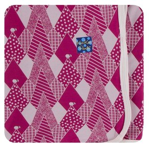 Kickee Pants Print Swaddling Blanket (Berry Mountains - One Size)