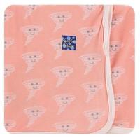 Kickee Pants Print Swaddling Blanket (Blush Happy Tornado - One Size)