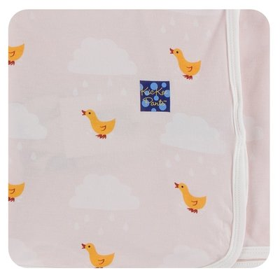Kickee Pants Print Swaddling Blanket (Macaroon Puddle Duck - One Size)