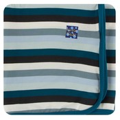 Kickee Pants Print Swaddling Blanket (Meteorology Stripe - One Size)