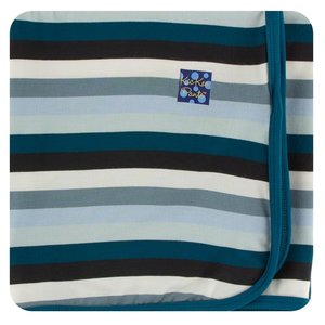Kickee Pants Print Swaddling Blanket (Meteorology Stripe - One Size)