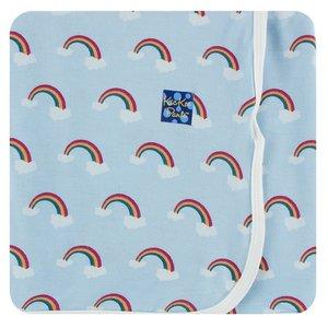 Kickee Pants Print Swaddling Blanket (Pond Rainbow - One Size)