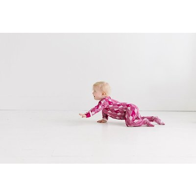 Kickee Pants Print Muffin Ruffle Coverall with Zipper (Berry Mountains)