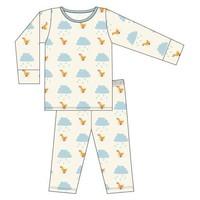 Kickee Pants Print Long Sleeve Pajama Set (Natural Puddle Duck)