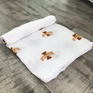 Three Little Anchors Iowa State Cyclone 100% Organic Swaddle Blanket