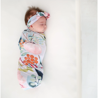 Posh Peanut Forrest Queen Swaddle Headband Set
