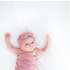 Posh Peanut Solid Color - Dusty Rose - Infant Swaddle and Headwrap Set