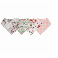Posh Peanut Perfect Florals 4-Pack Bib Collection